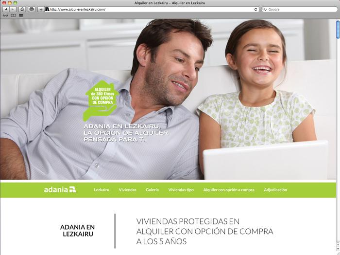 Web Adania alquiler Lezkairu